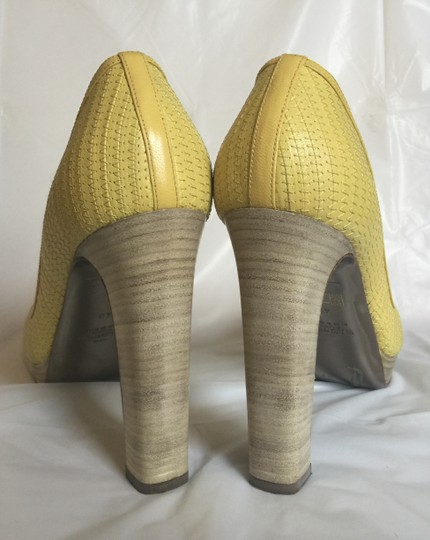 Valentino Peep-toe Spring Casual Pop Of Color yellow Pumps Image 7