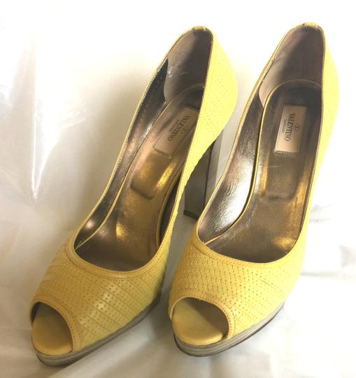 Valentino Peep-toe Spring Casual Pop Of Color yellow Pumps Image 9