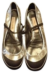Marc Jacobs Black and Silver Flats