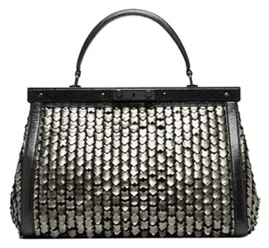 Tory Burch Satchel in Silver/Black