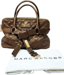 Marc Jacobs Bruna Metallic Tote in Bronze