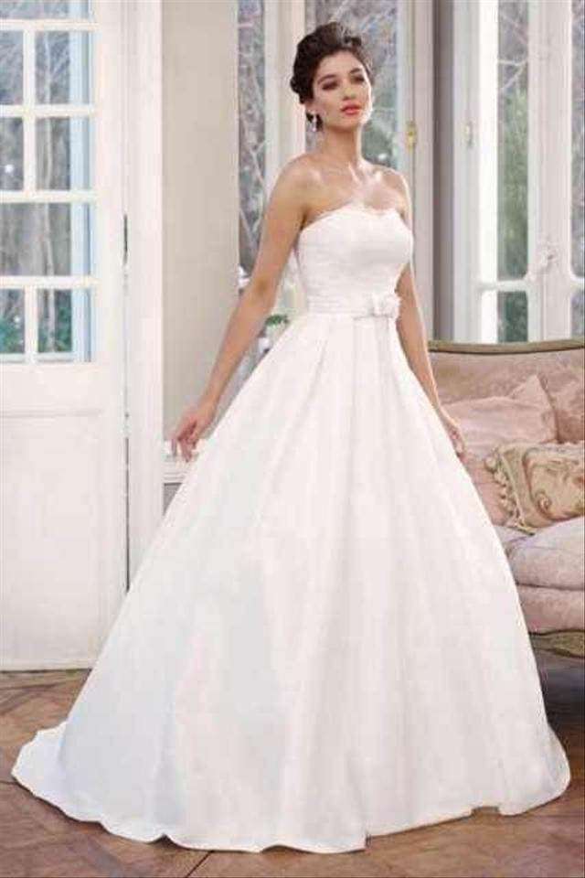 a28055e39ac Mia Solano White M1335l Wedding Dress Size 10 (M) - Tradesy