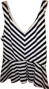 Express Top Navy & White