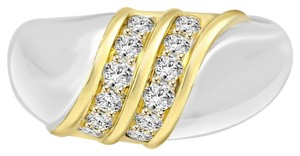 Avi and Co 0.30 cttw Ladies Round Brilliant Cut Diamond Fashion Ring 18K Two Tone Gold