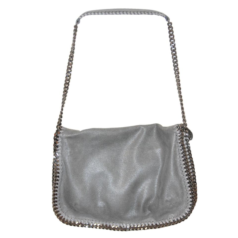 d20ece90d0 Stella McCartney Light Falabella Grey Shaggy Deer Messenger Bag - Tradesy