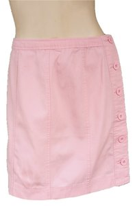 Boston Proper Canvas Mini Mini Skirt Pink