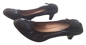Anyi Lu Leather Navy/Brown Pumps