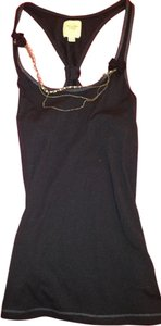 Abercrombie & Fitch Embellished Necklace Top Navy