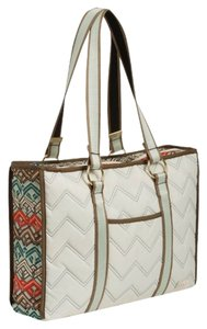 Cinda B Luxury Tote in Ravina Ivory