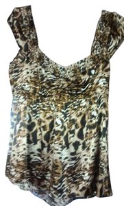 Arden B. Top Leopard brown print