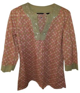 Style & Co Top Taupe/Pink