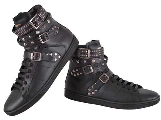 Saint Laurent Sneakers High Tops Studded Black Athletic Image 0
