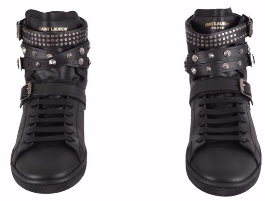 Saint Laurent Sneakers High Tops Studded Black Athletic Image 1