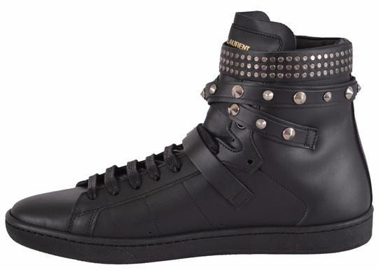 Saint Laurent Sneakers High Tops Studded Black Athletic Image 3