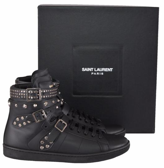 Saint Laurent Sneakers High Tops Studded Black Athletic Image 8