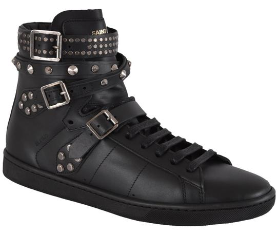 Saint Laurent Sneakers High Tops Studded Black Athletic Image 9
