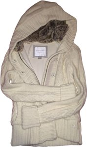 American Eagle Outfitters Fur Faux Jacket Beige Cream Coat