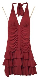 XOXO Party Ruffle Halter Dress