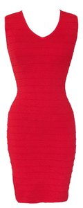 Neiman Marcus short dress Red Bodycon on Tradesy