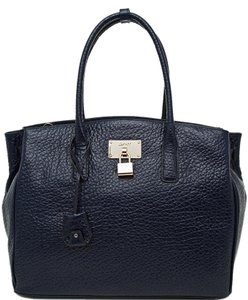 DKNY Luxury Leather Goods Tote in Navy