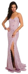 Lavander and nude Maxi Dress by Jovani
