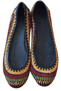 Jack Rogers Navy / red / green / yellow Flats