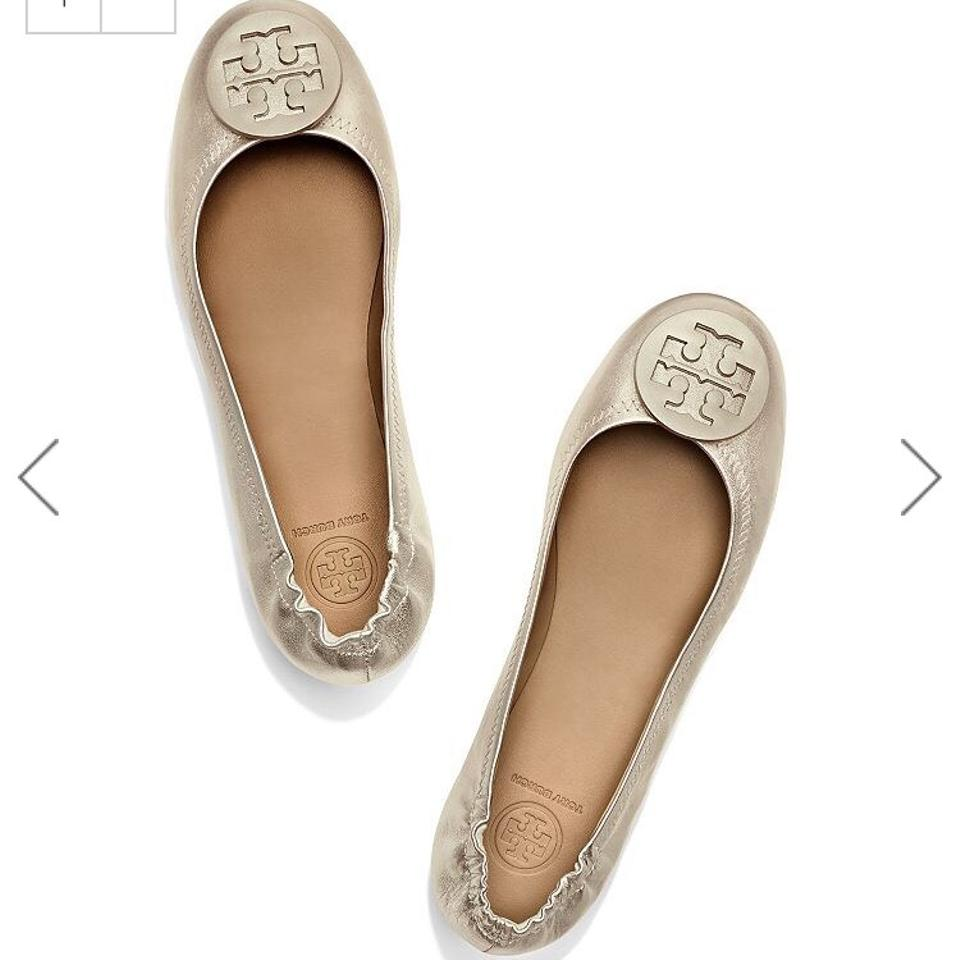 550f5e00188 Tory Burch Gold Minnie Foldable Travel Ballet Flats Size US 8.5 ...