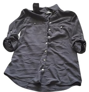 H&M Button Down Shirt Gray