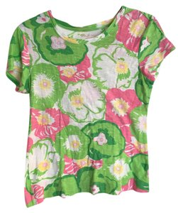 Lilly Pulitzer T Shirt Green & Pink
