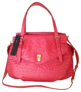 Marc by Marc Jacobs Ostrich Summer Satchel in Red