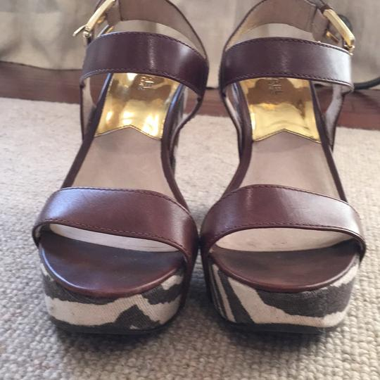 Michael Kors Brown & ivory Platforms Image 1