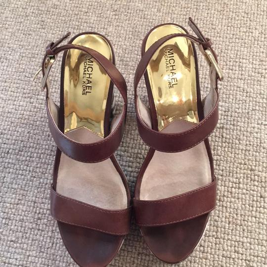 Michael Kors Brown & ivory Platforms Image 2