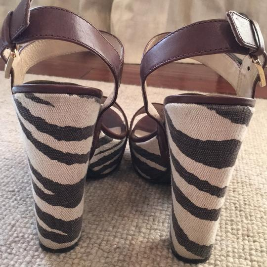 Michael Kors Brown & ivory Platforms Image 3