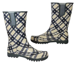 Sperry Rubber Boots Snow Boots Rrain Boots PLAID Flats