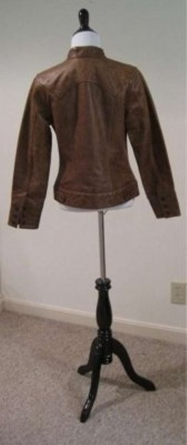 Gap Trendy Fall Winter Date Night Night Out Comfortable Brown Leather Jacket
