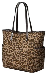 Tote in Brown Animal Print