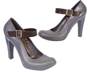 Marni Mary Jane Rubber GRAY Pumps