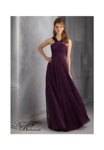 Mori Lee Eggplant 20434 Dress
