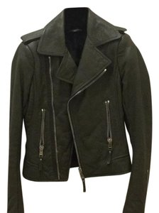 Balenciaga Green Leather Jacket