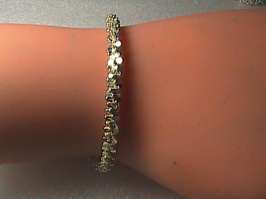 Vintage Italy Sterling Silver Diamond-Cut Bracelet (item#1)
