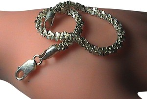 Vintage Italy Sterling Silver Diamond-Cut Bracelet (item#2)