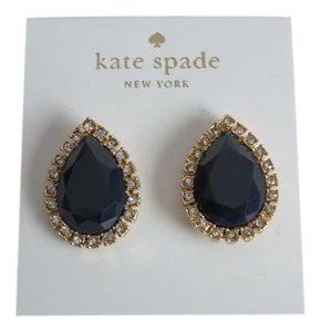 Kate Spade Nwt Kate Spade New York Blue And Clear Crystal Pear Shaped Earrings