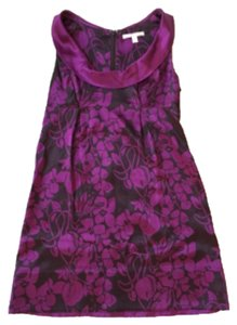 Rebecca Taylor short dress violet Floral Mini Shift Silk on Tradesy