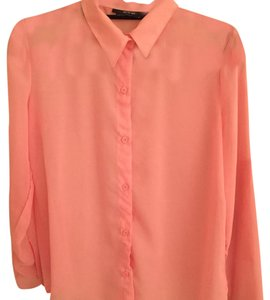 Nasty Gal Button Down Shirt Pink