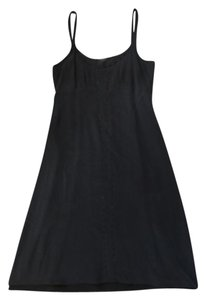 Theory short dress black Silk Midi Studded Spaghetti Strap on Tradesy