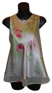Jones New York Sleeveless Floral Top Green
