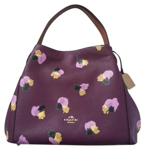 Coach Limited Edition Flower Print Shoulder Bag