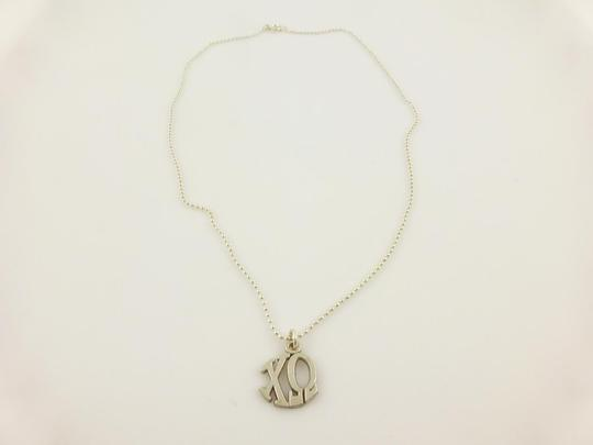 Other 925 Sterling Silver Xo Chi Omega Pendant Chain Necklace Image 2