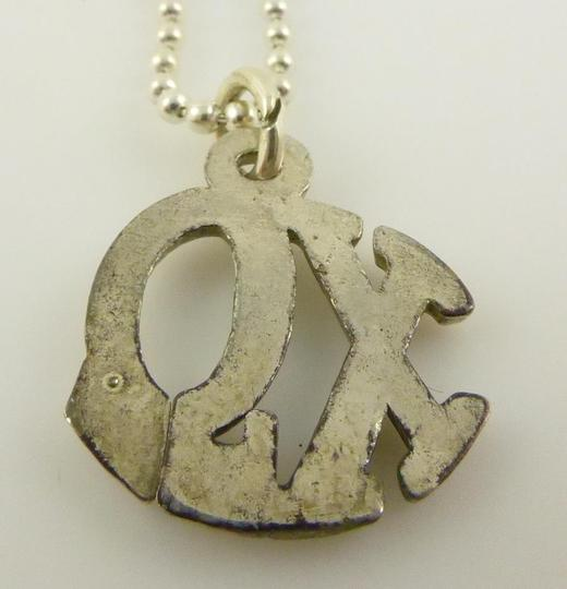 Other 925 Sterling Silver Xo Chi Omega Pendant Chain Necklace Image 4