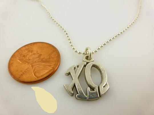 Other 925 Sterling Silver Xo Chi Omega Pendant Chain Necklace Image 5
